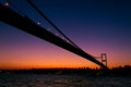 Sunset above Bosporus Bridge Royalty Free Stock Photo