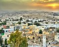 Sunset above El Kef, a city in northwestern Tunisia Royalty Free Stock Photo