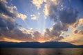 Sunset Above Erhai Lake, Dali, Yunnan Province