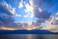 Sunset Above Erhai Lake, Dali, Yunnan Province Royalty Free Stock Photo