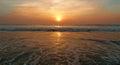 Sunset on the arabian sea goa india morjim beach Royalty Free Stock Photography