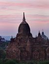 Sunset in Bagan, Burma Royalty Free Stock Photography