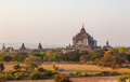 Sunset bagan burma myanmar view to thatbyinnyu temple Stock Photos