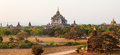 Sunset bagan burma myanmar view to thatbyinnyu temple Royalty Free Stock Photography
