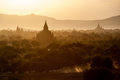 Sunset bagan pagodas myanmar Stock Image