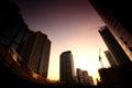 Sunset Bangkok Cityscape, Thailand Stock Photo