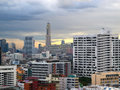 Sunset in bangkok view of Stock Photography