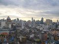Sunset in bangkok view of Royalty Free Stock Photography