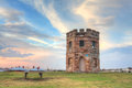 Sunset barrack tower la perouse sydney barack was erected around where soldiers stood watch for smugglers and stray ships it later Royalty Free Stock Images