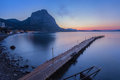 Sunset in the bay of novyi svet crimea ukraine Royalty Free Stock Photography