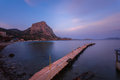 Sunset in the bay of novyi svet crimea ukraine Stock Photography