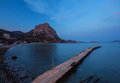 Sunset in the bay of novyi svet crimea ukraine Stock Images
