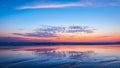 Sunset on beach. Goa Royalty Free Stock Photo