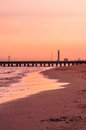 Sunset at the beach italy jesolo Stock Image