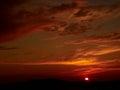 Sunset beautiful at santorini island in greece Royalty Free Stock Photos