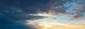 Sunset beautiful sky panoramic shot Royalty Free Stock Images
