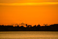 Sunset in Belleair Bluffs, Florida Royalty Free Stock Photo