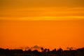 Sunset from Belleair causeway Royalty Free Stock Photo