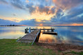 Sunset at Belmont, Lake Macquarie, NSW Australia Stock Image