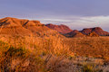 Sunset at Big Bend National Park Mountain Desert Royalty Free Stock Photo