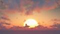 Sunset - Big Sun And Cumulus C...