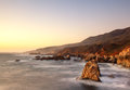 Sunset at Big Sur Stock Images