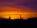 Sunset of bologna no hdr my photo a in italy Royalty Free Stock Photos