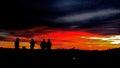 Sunset borneo island at Stock Image