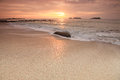 Sunset in borneo islands at the end of the beaches of north sabah malaysia Stock Photo