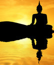 Sunset Buddha Royalty Free Stock Photography