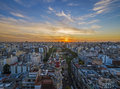 Sunset in Buenos Aires Royalty Free Stock Photo