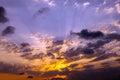 Royalty Free Stock Photos Sunset burst
