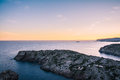 Sunset on Cap de Creus national park, Costa Brava, Catalonia Royalty Free Stock Photo