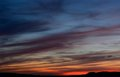 Sunset Croatia skyscape. Royalty Free Stock Photo