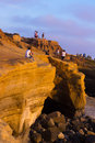 Sunset cliffs ca san diego aug shoreline at natural park in point loma on aug dedicated in natural park is a acre Royalty Free Stock Image