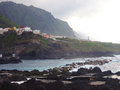 Sunset at a coastal village north tenerife el grinch canary islands spain Royalty Free Stock Photo