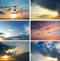 Sunset collection Royalty Free Stock Photos