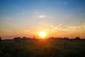 Sunset in the countryside Royalty Free Stock Photo