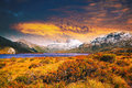 Sunset at Cradle Mountain, Tasmania Royalty Free Stock Photo