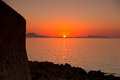 Sunset at Crete Stock Photography