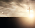 Sunset Cross Royalty Free Stock Images