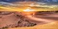 Západ slnka na duny z