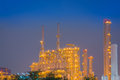 After sunset and duration twilight of the chemical plant Stock Images