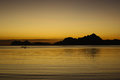 Sunset from El Nido beach, Philippines Royalty Free Stock Photos
