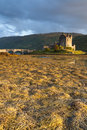 Sunset at Elian Donan Castle Stock Photo