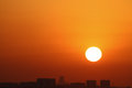Sunset in the emirates rak Stock Photography