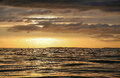 Sunset in the english channel Royalty Free Stock Photography