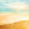 Sunset and  fine sand Royalty Free Stock Photos