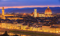 Sunset at Florence, Toscana, Italy Royalty Free Stock Photo