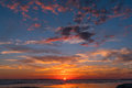 Sunset at Folly Beach Royalty Free Stock Photo